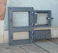 Дверца чугунная со стеклом правая DPK8R