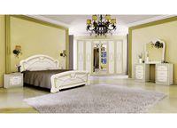 Спальня Примула,шкаф с 6 дверями, бежевый