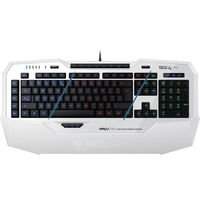 ROCCAT Isku FX (White) / Multicolor Gaming Keyboard, Extra-large wrist rest, 8+3 programmable keys, Multicolor key illumination (6-level brightness), MACRO LIVE! Recording, EASY-SHIFT[+]™, USB