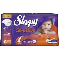 Подгузники Sleepy Sensitive гипоаллергенные 4+ Jumbo Maxi Plus