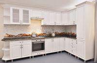 Bucătărie Bafimob Corner MDF 3.4x1.7m White