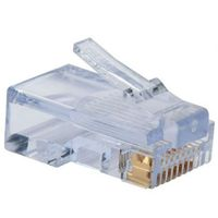 "RJ45 Modular Plug, Cat.5E Long Type 50u"" Gold Plated 100pcs/bag"