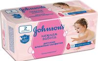Johnson's Baby влажные салфетки нежная забота, 128 шт