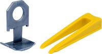 Система выравнивания плитки, набор из 50 клиньев и 50 зажимов  Vorel 04691