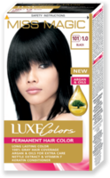 Vopsea p/u păr, SOLVEX Miss Magic Luxe Colors, 108 ml., 101 (1.0) - Negru