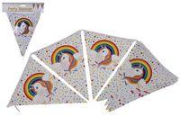 Ghirlianda Unicorn 12 steaguri de hartie  3.5m
