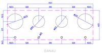 Газовая панель Reginox Danau 4-Pitt