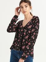 Блуза Sinsay Черный в цветочек vr471-59x