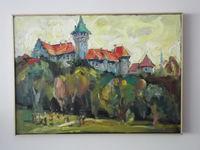 Замок Смолянице (Словакия), 50x70 см., холст, масло