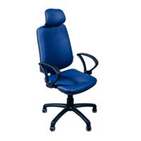 Офисное кресло Regbi синее (подголовник, neapoli 22)