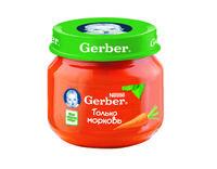 Gerber пюре морковь 4+мес. 80г