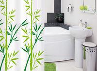 Штора для ванной комнаты Tatkraft BAMBOO GREEN Textile 18013