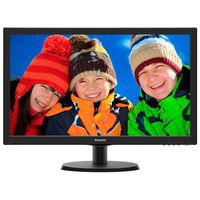 """21.5"""" Philips """"223V5LHSB"""", Black (1920x1080, 5ms, 250cd, LED10M:1, HDMI, D-Sub, Headphone-Out) (21.5"""" TN LED, 1920x1080 Full-HD, 0.248mm, 5ms, 250 cd/m², DCR 10 Mln:1 (1000:1), 16.7M Colors, 170°/160° @C/R>10, 30-83 kHz(H)/56-76 Hz(V), HDMI + Analog D-Sub, HDMI Audio-In, Headphone-Out, Built-in PSU, Fixed Stand (Tilt -5/+20°), VESA Mount 100x100, Black-Hairline)"""