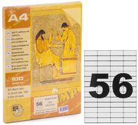 SP Этикетки самоклеющиеся A4, 100 л., 56 шт., 52.5x21.2 мм