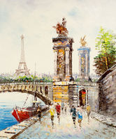 Oil Paintings Le Tour Eiffel (CIT15000969)