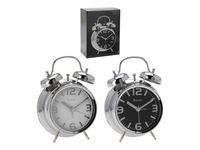 Часы-будильник со светящимся циферблатом 11.8Х5.7Х16cm мет