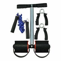 Набор для фитнеса Jinaolei: упоры для отжиманий, скакалка, большой пружинный эспандер, SIP-003