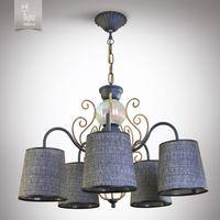 N&B Light Люстра Санта-Мария 14505-2 серый, черная структура/золото