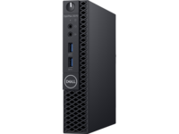 DELL OptiPlex 3070 MFF lntel® Core® i3-9100T, 8GB (1X8GB) DDR4 2666Mhz, M.2 256GB PCIe NVMe SSD, no ODD, lnteI® UHD630 Graphics, Wi-Fi/AC-MU-MIMO/BT4.1, TPM, 65W PSU, USB mouse MS116,USB KB216-B, Win10Pro, Black.
