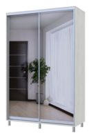 City Lite 2-х дверные зеркала заднего вида 2,25 м x 1,5 м x 0,6 м белое дерево 0449