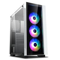 Case ATX Deepcool MATREXX 55 V3 ADD-RGB 3F, w/o PSU, 3x120mm,Tempered Glass, RGB, USB3.0, White
