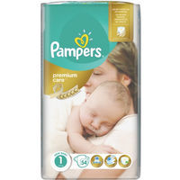Pampers Scutece Premium Care 1, 2-5 kg, 54 buc.