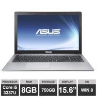 """Ноутбук Asus X550C (15,6"""" i5 3337U 8GB RAM 750GB HDGraphics Win8) Silver"""