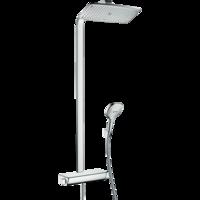 Sistema de  dus hansgrohe Raindance Select E 360 Showerpipe cu termostat, crom