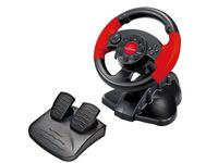Wheel Esperanza HIGH OCTANE EG103, Vibration Force, 13 action buttons, Directional keypad, Rotation 180 degrees, for PC/PSX/PS2/PS3, USB, Black/Red