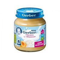 Gerber пюре из абрикос с творогом 6+ мес., 125 г