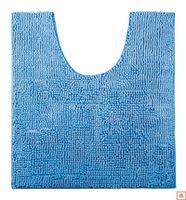 Коврик для туалета из шениллам синий 14756