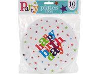 """купить Набор тарелок бумажных """"Happy Birthday"""" 10шт, D18cm в Кишинёве"""
