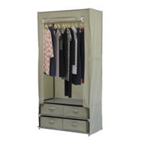 купить Шкаф для одежды, вешалка и 4-ре ящика 880х450х1800 мм в Кишинёве