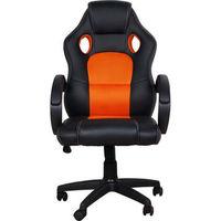 Gaming Chair Spacer SP-GC-RED53, Black-Orange