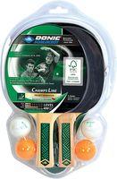 Набор для настольного тенниса (2 ракетки + 4 мяча) Donic Champs 400 / 788498 (5390)
