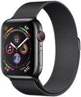 Apple Watch 5 44mm Space Black Stainless Case Space Black Milanese Loop LTE