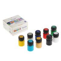 Set de vopsele acrilice pentru textil Decola, 9 culori, 20 ml