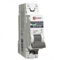 Автоматический выключатель 1P 10А (В) 4,5kA ВА 47-63 EKF PROxima