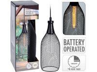 Lampa cu timer H31, D12cm, neagra, pe baterii,nu sunt incluse, 4AA