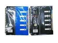 Блокнот на пружине А5, 16X21cm, 100листов, линейка, закладки
