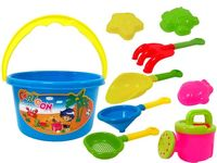 купить Набор игрушек и сито для песка в ведерке 8ед, 14.5X11cm в Кишинёве
