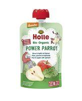 Пюре Power Parrot с грушей, яблоком и шпинатом с 6 месяцев Holle Bio Organic, 100г