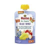 Piure de mere, pere, afine și ovăz Holle Bio Organic Blue Bird (6 luni+), 100g