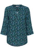 Блуза Fransa Темно-синий в цветочек 20605593
