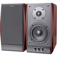 """F&D R224 (Cherry, 2x18W RMS(4""""+1""""), 20-20kHz, 65dB, Magneticaly Shield, Treble, Bass, Wooden)"""
