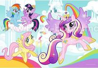 "BS 36516 Trefl Puzzles - ""Color Puzzle 20"" - Ponies Pony in his land / Hasbro, My Little Pony"