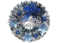 """купить Венок """"Merry Christmas"""" D36cm с синим декором в Кишинёве"""
