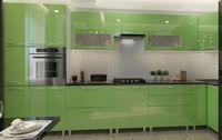 Bucătărie Bafimob Corner (High Gloss) 4.1x0.9m Eco +tandembox Green