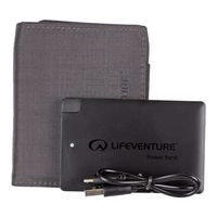 Кошелек-powerbank Lifeventure RFiD Charging Wallet, black, 68305