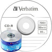 VERBATIM Диск CD-R VERBATIM 52x/700, 50 штук, spindle 43787